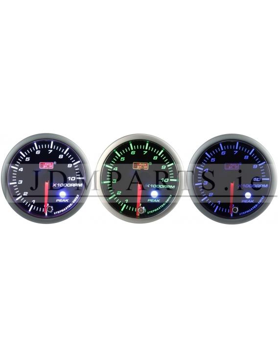 STEPPER MOTOR PEAK 52mm RPM WHITE+AMBER/ BLUE/ GREEN