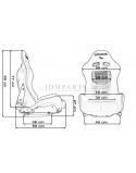 Bucket seat LOW MAX II K608 BLACK/GREY