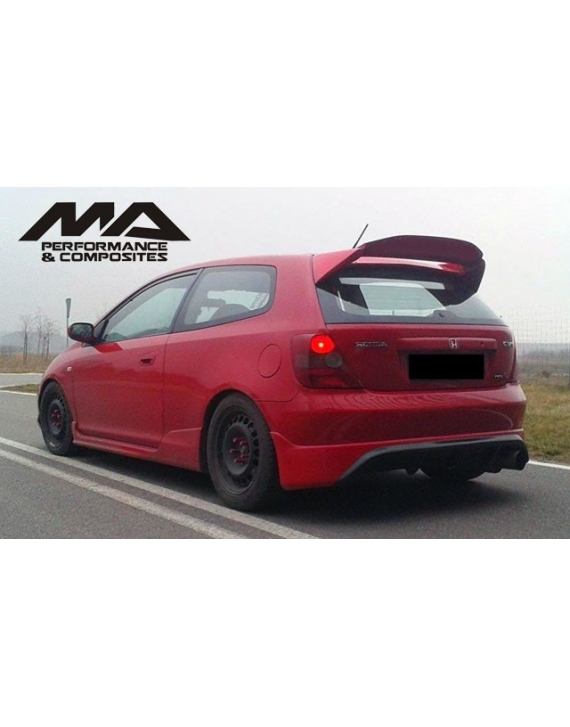 FIBREGLASS MUGEN STYLE WING CIVIC ep3 ep2 ep4 02-05 HATCH