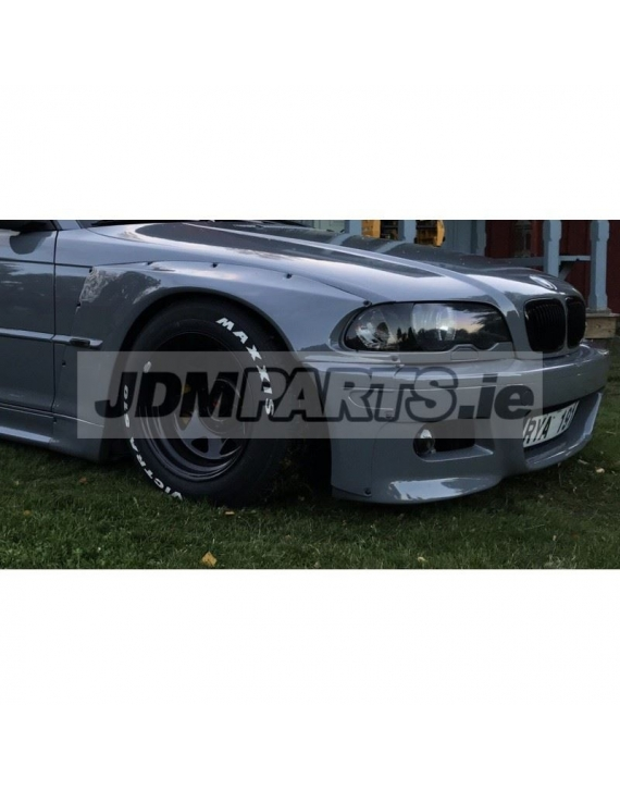 BMW e46 front overfenders WIDEBODY V2 COUPE